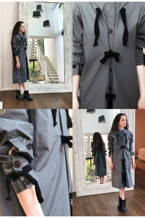 Taree Dress - Black with Natural Ties - PROJECT 6, modest fashion