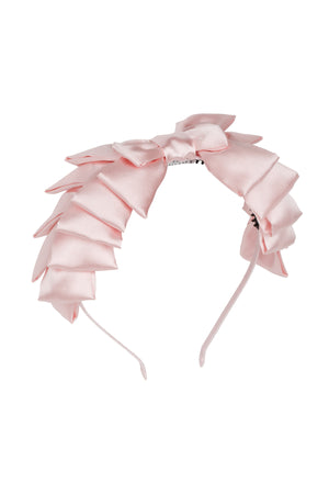 Pleated Ribbon Headband - Blush - PROJECT 6, modest fashion