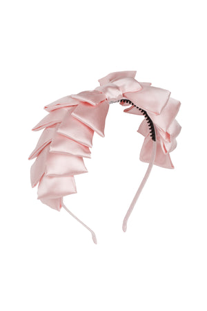 Pleated Ribbon Headband - Blush