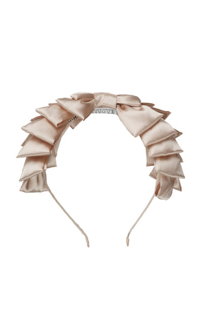 Pleated Ribbon Headband - Champagne - PROJECT 6, modest fashion