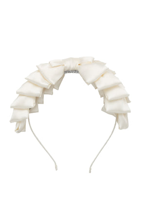 Pleated Ribbon Headband - Dove Ivory - PROJECT 6, modest fashion