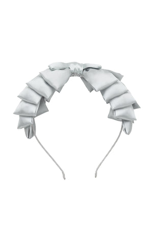 Pleated Ribbon Headband - Light Silver