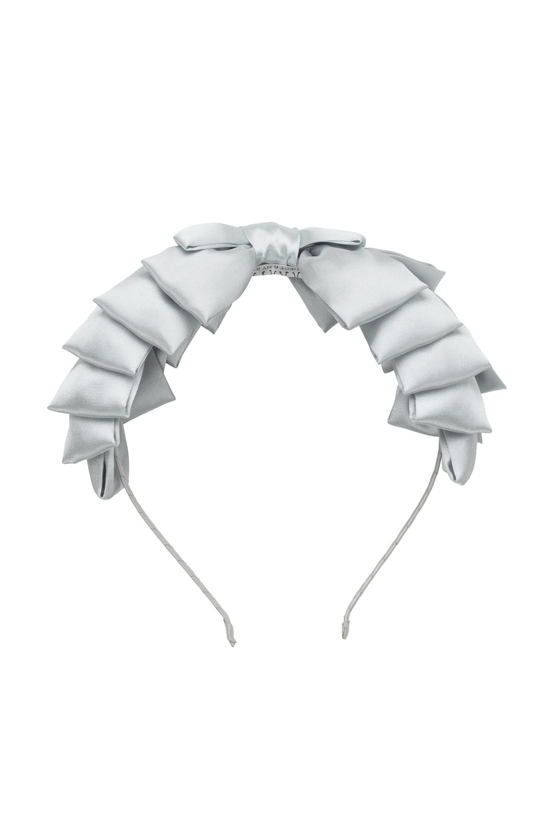 Pleated Ribbon Headband - Light Silver - PROJECT 6, modest fashion