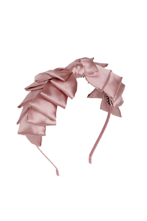 Pleated Ribbon Headband - Rose