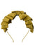 Pleated Ribbon Headband - Mustard Paisley Suede - PROJECT 6, modest fashion