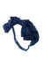 Pleated Ribbon Wrap - Navy Paisley Suede - PROJECT 6, modest fashion