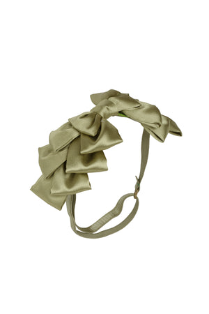 Pleated Ribbon Wrap - Antique Green