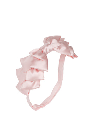 Pleated Ribbon Wrap - Blush