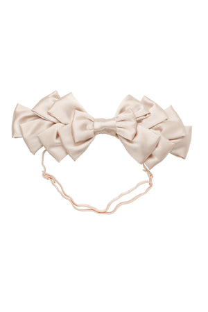 Pleated Ribbon Wrap - Champagne
