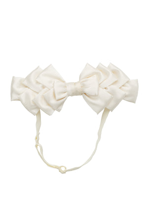Pleated Ribbon Wrap - Dove Ivory