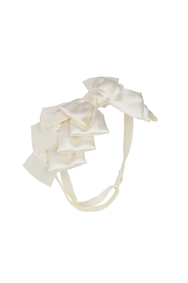 Pleated Ribbon Wrap - Dove Ivory - PROJECT 6, modest fashion