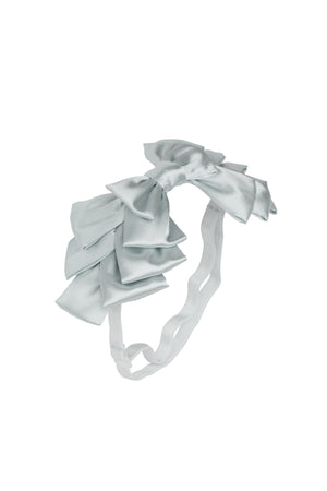 Pleated Ribbon Wrap - Light Silver