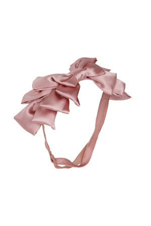 Pleated Ribbon Wrap - Rose - PROJECT 6, modest fashion