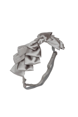 Pleated Ribbon Wrap - Silver Grey