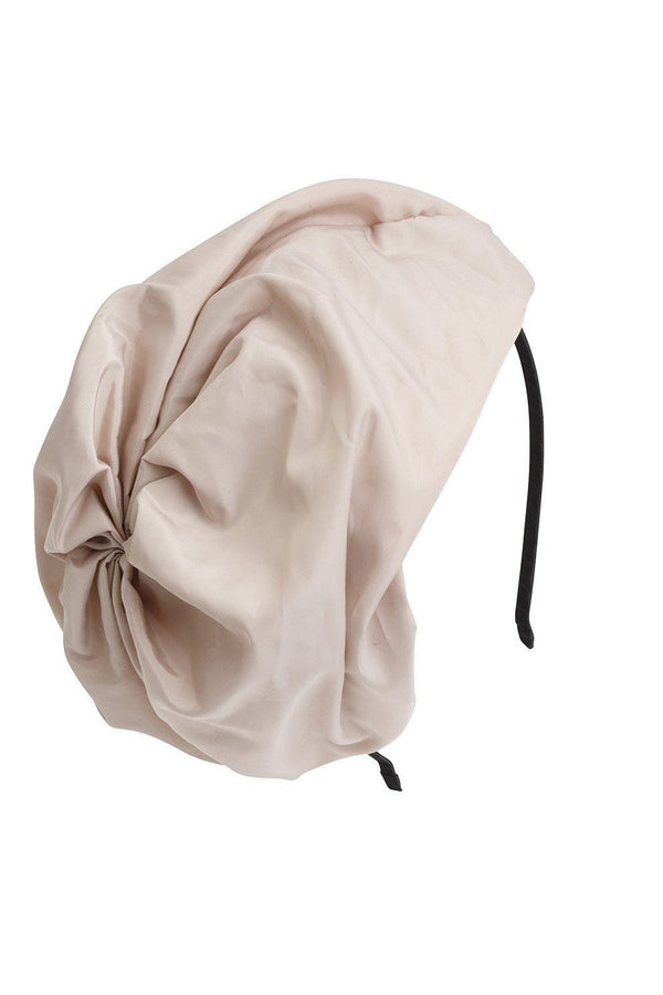 Petit Hat - Taupe Taffeta - PROJECT 6, modest fashion