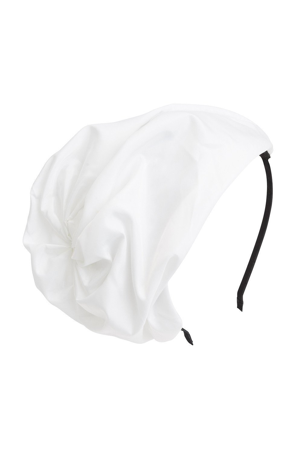 Petit Hat - White Taffeta - PROJECT 6, modest fashion