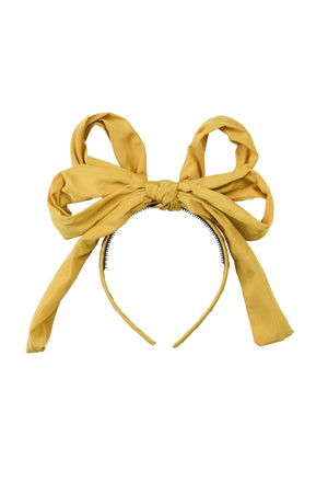 Double Party Bow Headband - Mustard - PROJECT 6, modest fashion