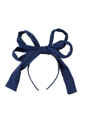 Double Party Bow Headband - Navy - PROJECT 6, modest fashion