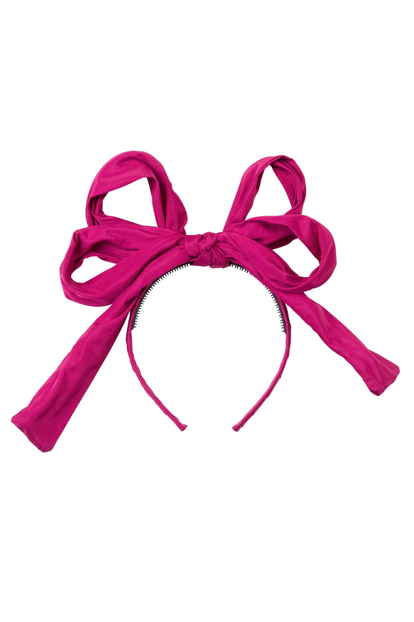 Double Party Bow Headband - Raspberry - PROJECT 6, modest fashion