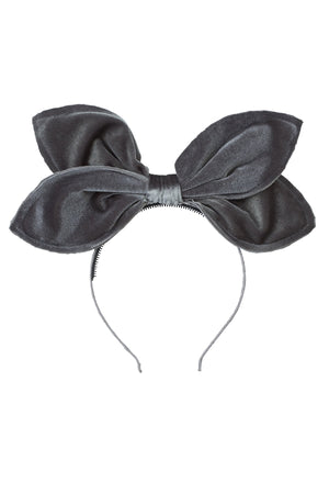 Growing Orchid Velvet Headband - Grey - PROJECT 6, modest fashion