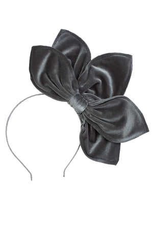 Five Petals Velvet Headband - Grey - PROJECT 6, modest fashion