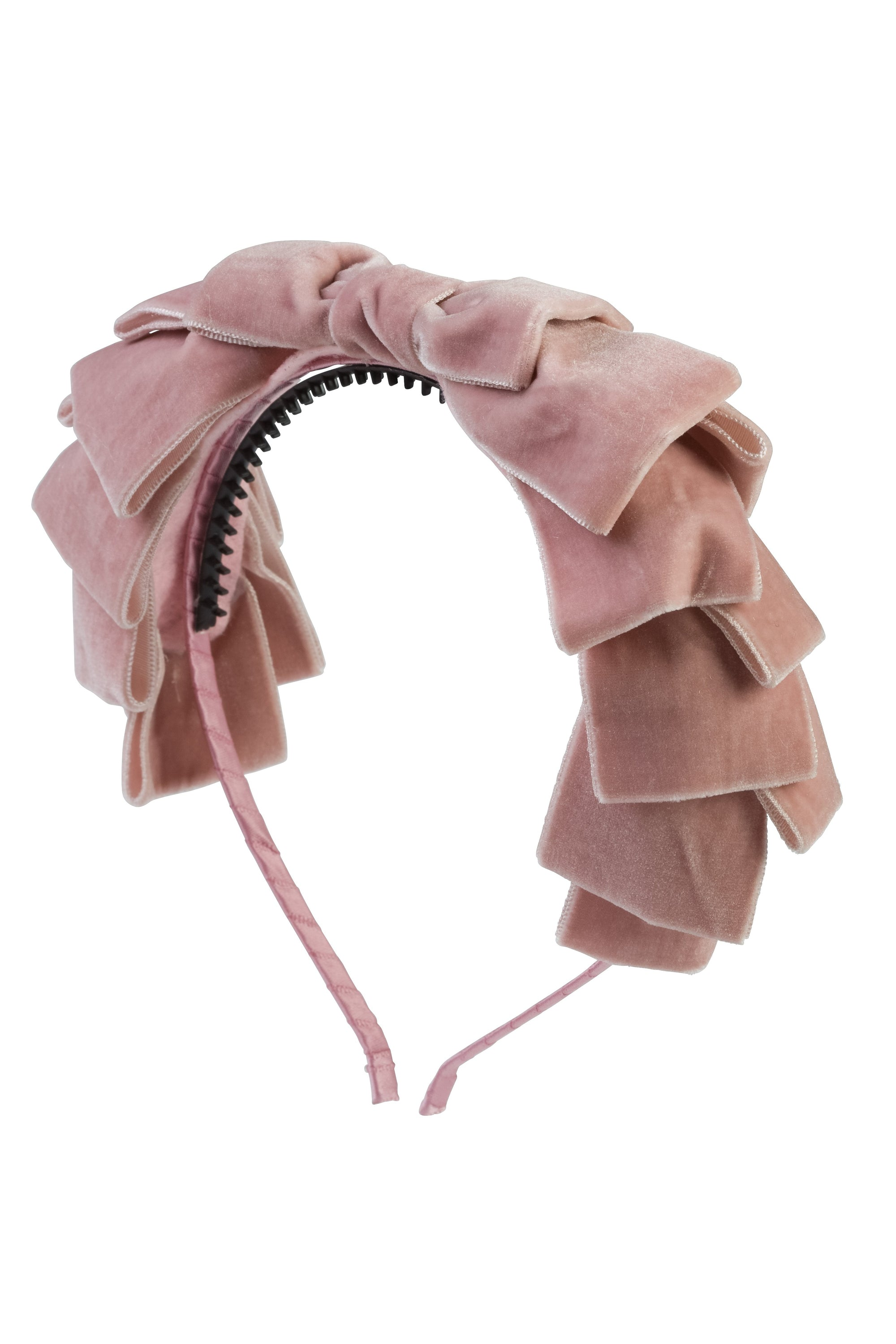 Pleated Ribbon Velvet Headband - Blush - PROJECT 6, modest fashion