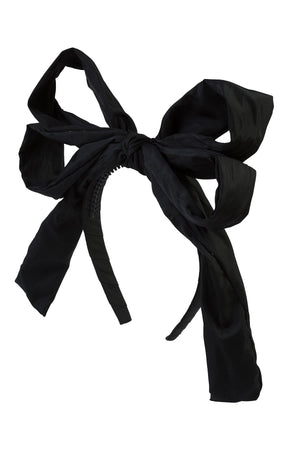 Double Party Bow Headband - Black - PROJECT 6, modest fashion