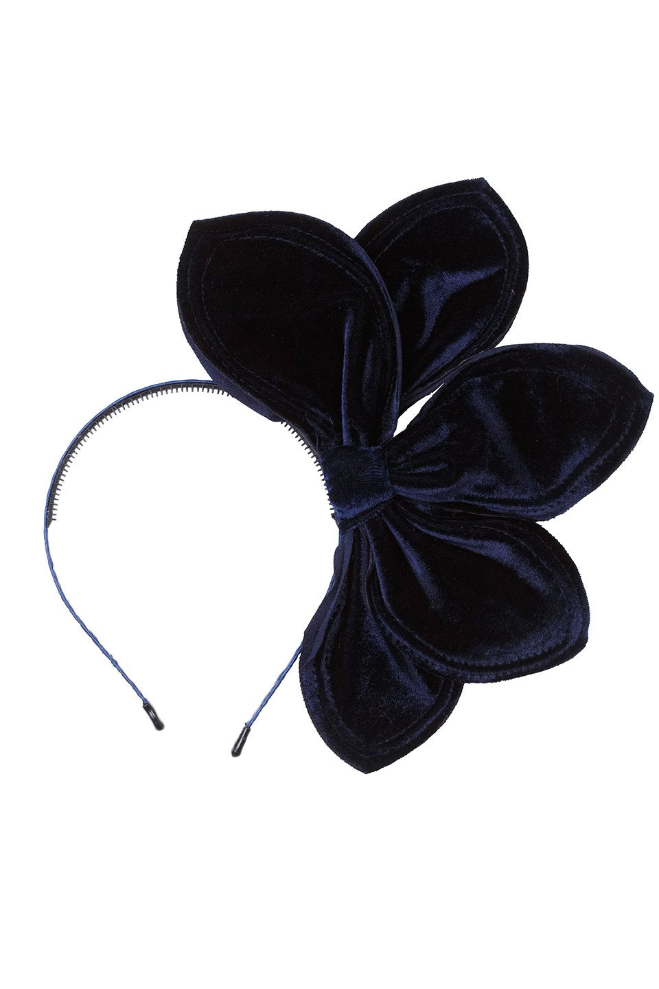 Five Petals Velvet Headband - Navy - PROJECT 6, modest fashion