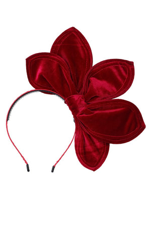 Five Petals Velvet Headband - Burgundy - PROJECT 6, modest fashion