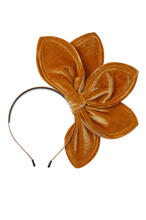 Five Petals Velvet Headband - Gold - PROJECT 6, modest fashion