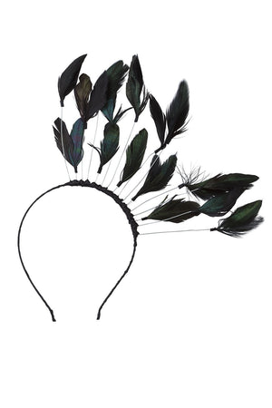 Floating Feathers Headband - Black - PROJECT 6, modest fashion