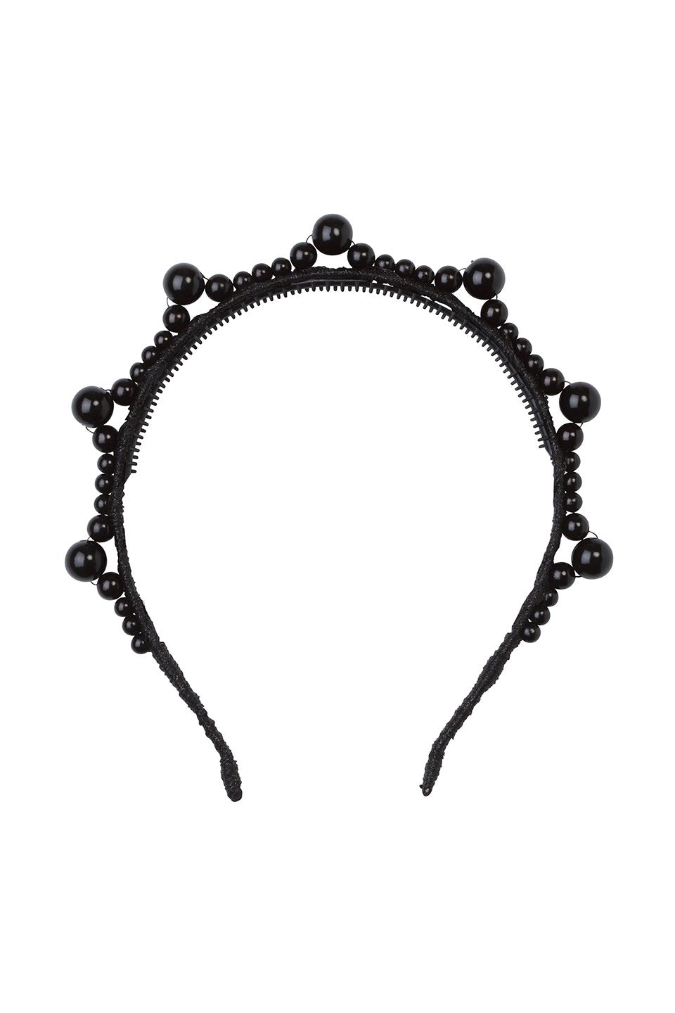Triple Cluster Pearl Headband - Black/Black Pearls - PROJECT 6, modest fashion