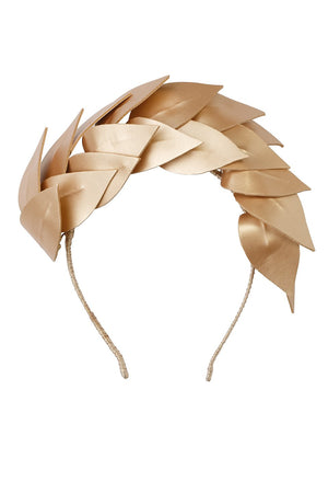 Cascading Floating Leather Leaves - Gold - PROJECT 6, modest fashion