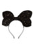Growing Orchid Velvet Headband - Black Star - PROJECT 6, modest fashion