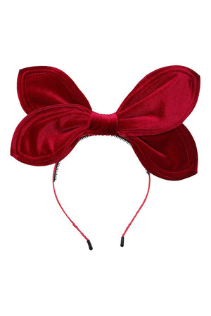 Growing Orchid Velvet Headband - Burgundy - PROJECT 6, modest fashion
