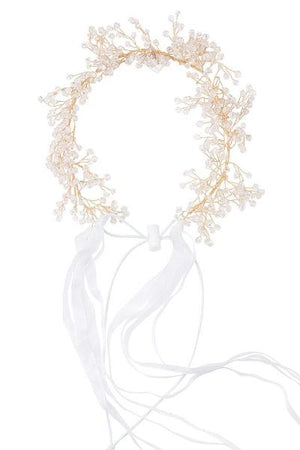 Clustered Wreath - Crystals - PROJECT 6, modest fashion