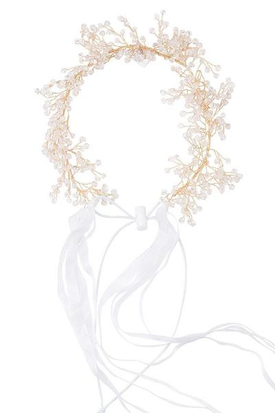 Clustered Wreath - Crystals with White Ribbons - PROJECT 6, modest fashion