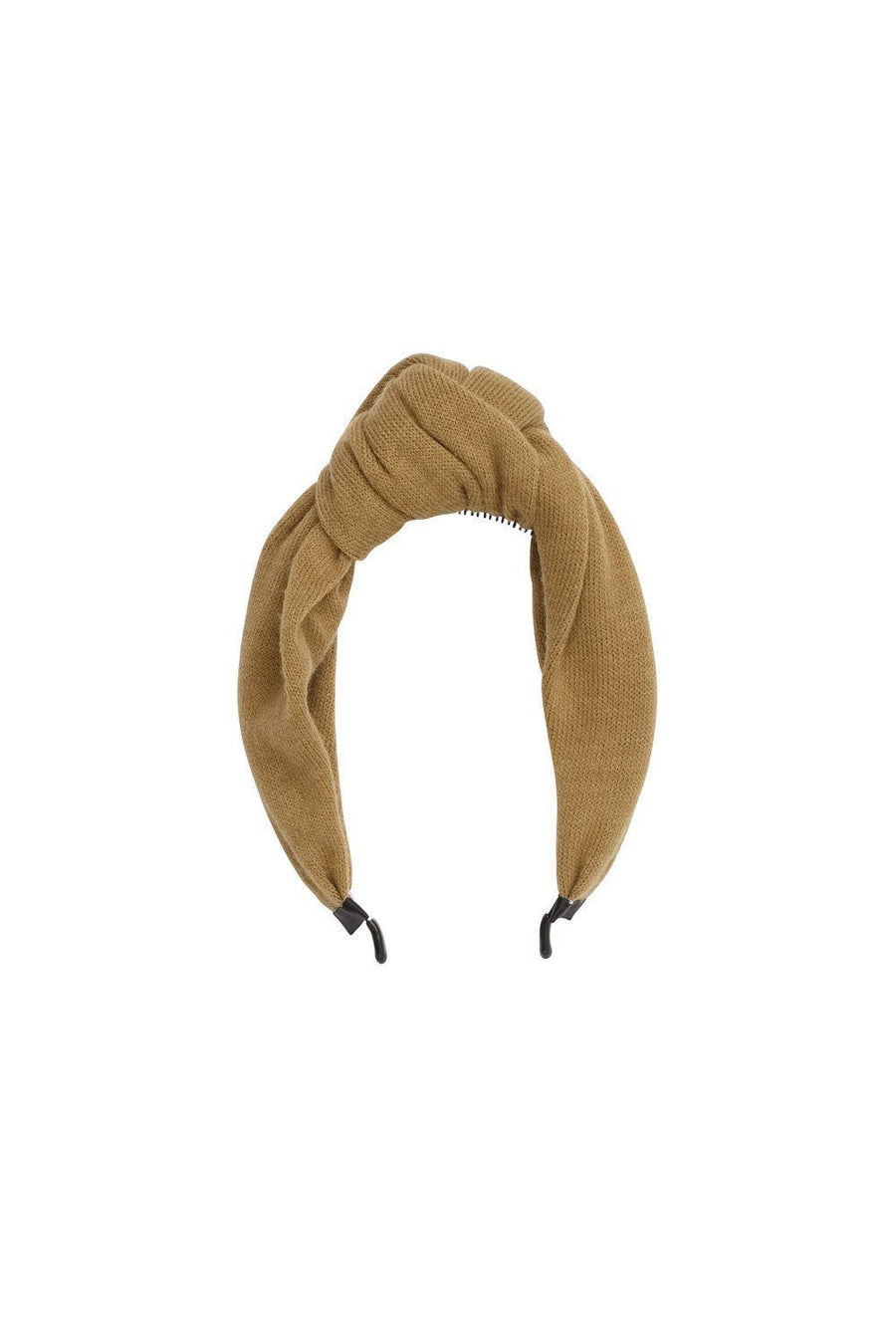 Knot Headband - Gold Olive Wool - PROJECT 6, modest fashion