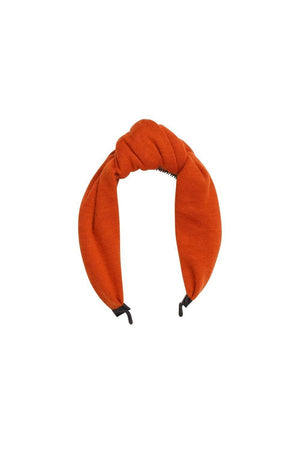 Knot Headband - Burnt Orange Wool - PROJECT 6, modest fashion