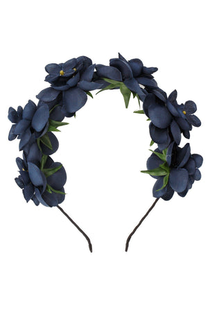 Floral Crown - Navy - PROJECT 6, modest fashion