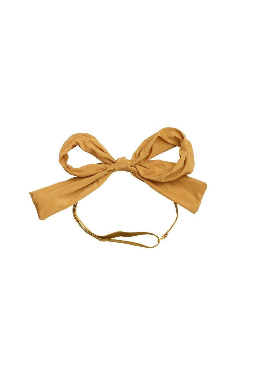 Party Bow Wrap - Mustard Taffeta