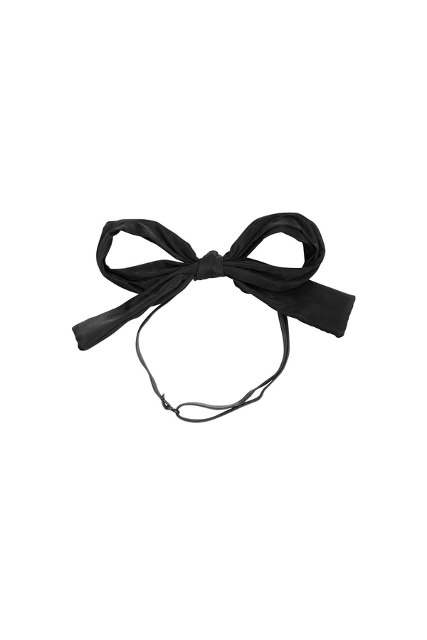 Party Bow Taffeta Wrap - Black - PROJECT 6, modest fashion