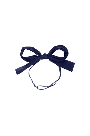Party Bow Taffeta Wrap - Navy - PROJECT 6, modest fashion