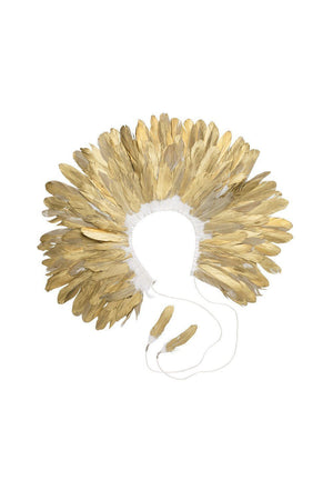 Feather Collar - Gold - PROJECT 6, modest fashion