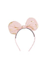 Bunnie Bow Headband - Blush/Gold Feather Print - PROJECT 6, modest fashion