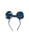 Bunnie Bow Headband - Navy/Gold Feather Print - PROJECT 6, modest fashion
