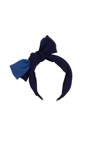 Wide Knot Headband - Navy/Blue - PROJECT 6, modest fashion