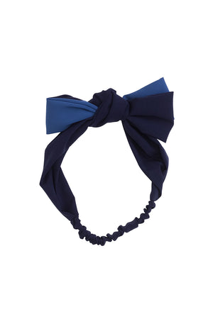 Wide Knot Wrap - Navy/Blue - PROJECT 6, modest fashion