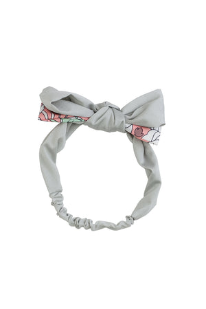 Wide Knot Wrap - Light Grey/ GreenPink Print - PROJECT 6, modest fashion