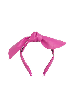 Perfect Leather Pointy Bow Headband - Hot Pink - PROJECT 6, modest fashion